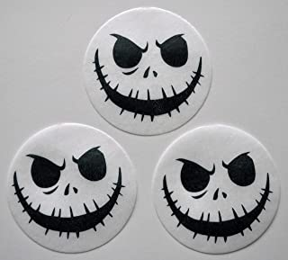 Skeleton Edible Wafer Paper Cupcake / Cookie Toppers by MAKCreationsCakeSupply ~ Pre Cut 2 1/2