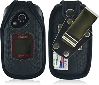 Turtleback Fitted Case for Kyocera DuraXV+ Plus Flip Phone Black Nylon with Rotating Removable Heavy Duty Metal Belt Clip Made in USA
