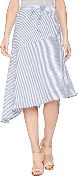 Asymmetrical Cotton Midi Skirt