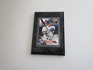 Limited Edition All Star Game 2016 Justin Smoak Toronto Blue Jays player card mounted on a 4x6 black marble plaque