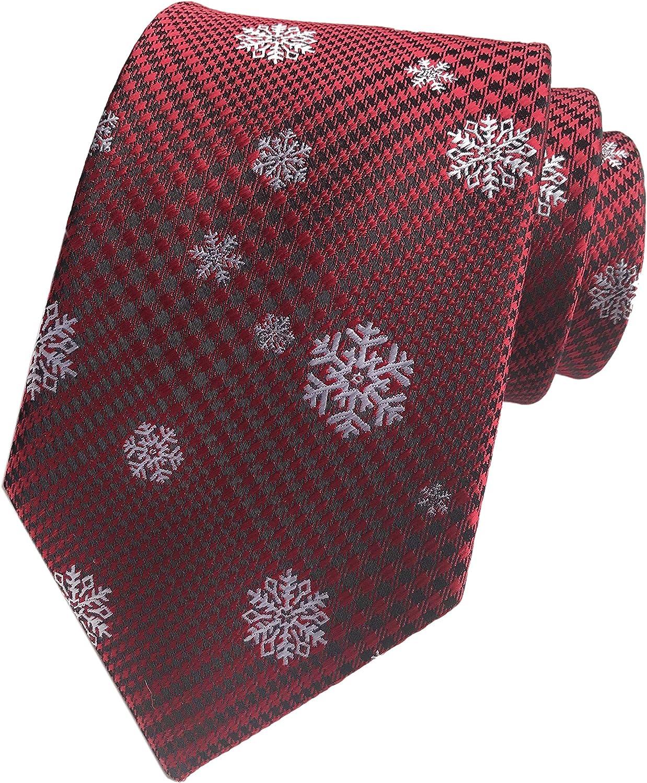 Mens Big Boys Novelty Fun Merry Christmas Tie Patterned Fancy Necktie by Secdtie