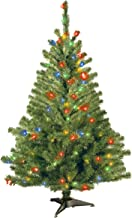 National Tree 4 Foot Kincaid Spruce Tree with 100 Multicolor Lights (KCDR-40RLO-S)