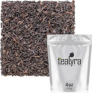 Tealyra - Tarry Lapsang Souchong - Taiwanese Smoked Black Loose Leaf Tea - Smoky Deep and Inimitable Aroma - Caffeine Medium - 110g (4-ounce)