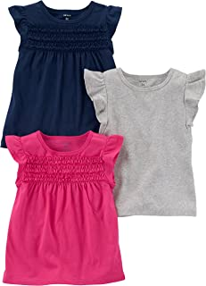 Carter's Baby Girls' 3-Pack Flutter Sleeve Tee