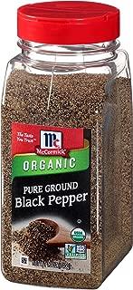 McCormick Ground Organic Pepper Black, 12 oz