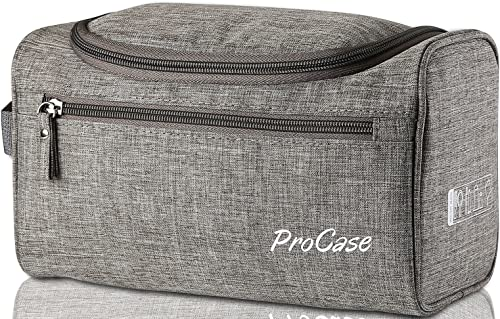 ProCase Toiletry Bag Travel Case with Hanging Hook, Organizer for Accessories, Shampoo, Cosmetic, Personal Items, Hea...