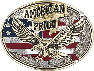 Montana Silversmiths Men`s American Pride Belt Buckle - 60806P