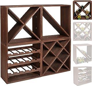 Estante para botellas de vino - Sistema modular CUBOX 50 - Mod. Dunkel 24