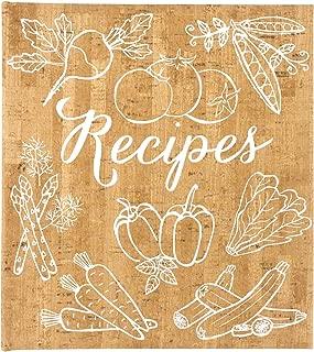 Eccolo World Traveler Cork Vegetables Recipe Keeper 9.5 x 8.5