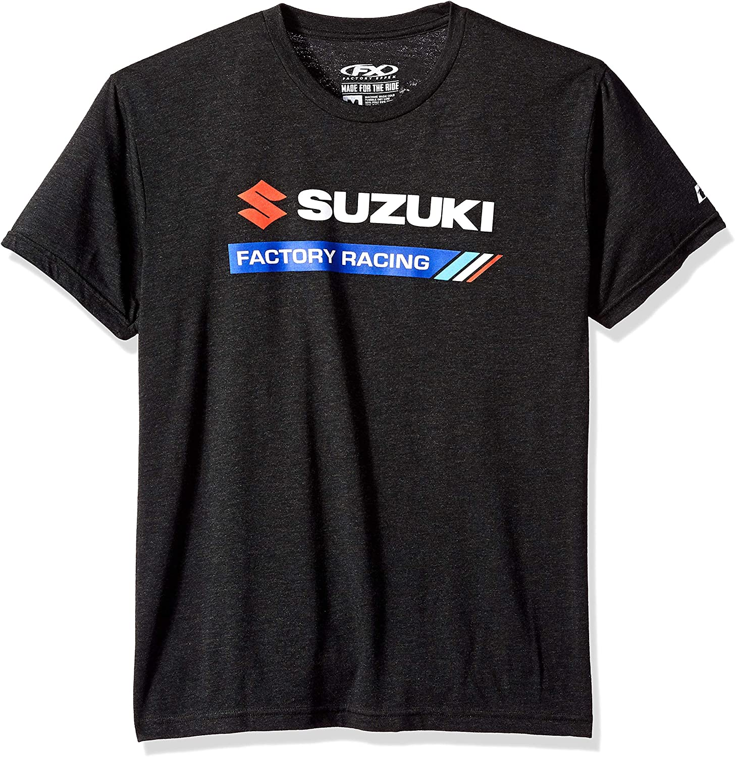 Medium, Heather Black Factory Effex Suzuki Factory Racing T-Shirt