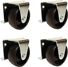 2 Inch Low Profile Trundle Casters Wheels Cabinet Roll Out Bed - Set of 4