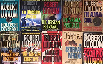 Robert Ludlum Paperback Novel Collection 10 Book Set