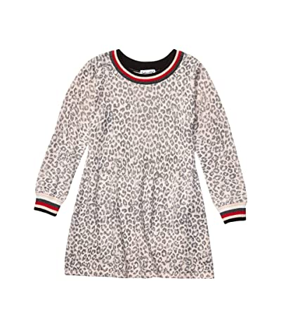 Splendid Littles Leopard Sweater Knit Dress (Toddler/Little Kids) (Creole Pink) Girl