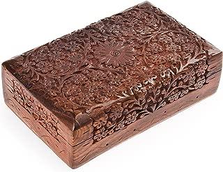 Rusticity Wood Jewelry Box Organizer Decorative | Handmade | (8x5 in)