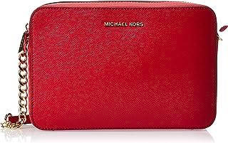MICHAEL KORS Womens Large Ew Crossbody Bag, Bright Red - 32S4GTVC3L