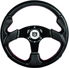 "Pro Armor Force Circle 13"" Steering Wheel with Red Stiching P081275"