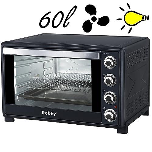 Robby - oven 60l - Four multifonction chaleur tournante 60l 2200w noir 59,2 x 38 x 49,5 cm