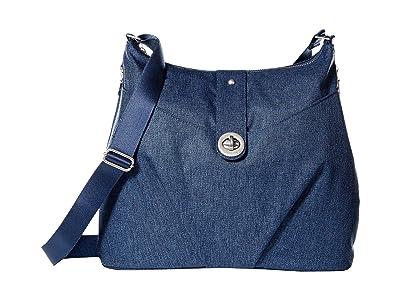 Baggallini Gold Helsinki Bag (Steel Blue) Handbags