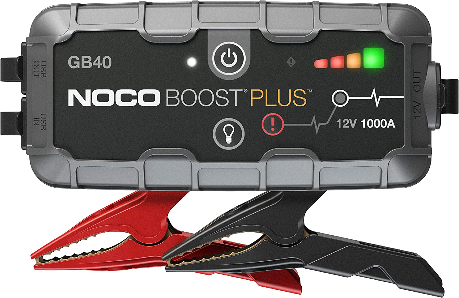 NOCO Boost Plus GB40 1000 Amp 12-Volt UltraSafe Portable Lithium Car Battery Booster Jump Starter Power Pack For Up To 6-Liter Petrol And 3-Liter Diesel Engines