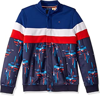 TOMMY HILFIGER Boys' Adaptive Track Jacket with Magnetic Buttons