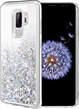 Caka Galaxy S9 Plus Case, Galaxy S9 Plus Glitter Case Liquid Series Luxury Fashion Bling Flowing Liquid Floating Sparkle Glitter Soft TPU Case for Samsung Galaxy S9 Plus (Silver)