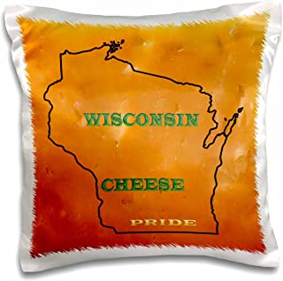 """3dRose pc_41202_1 Wisconsin Cheese Pride No. 1-Pillow Case, 16 by 16"""""""