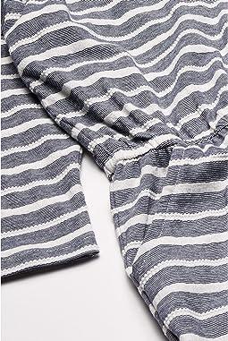 Mood Indigo Jacquard Stripes