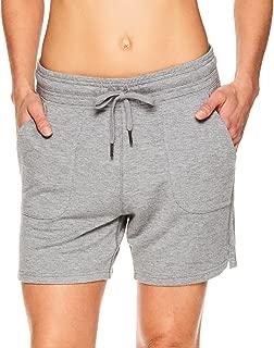 Gaiam 女式 Warrior 瑜伽短裤 - 自行车和跑步运动短裤,带口袋 浅灰色 1X Big