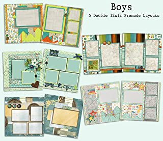 boy scrapbook page layouts