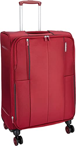 Kenning Polyester 66 Cms Red Softsided Check In Luggage SAM Kenning Spinner 66 EXP RED
