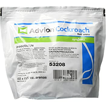 Syngenta A20378A Advion Cockroach Bait Arena Insecticide, 60Count Bag