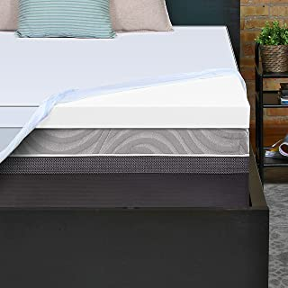 Sealy Essentials 3-Inch Firm Support Foam Mattress Topper 5 YR Warranty, Washable Cover, CA King, Cal