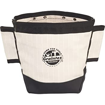 White Canvas CLC 914 Nut and Bolt Bag w// Driff Pin Holders