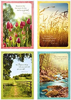 Hallmark Dayspring Assorted Religious Sympathy Cards (Christian Prayers, 12 Cards and Envelopes) - 5DSI6001