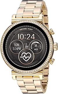 Michael Kors Women's Quartz Wrist Watch smart Display and Stainless Steel Strap, MKT5062