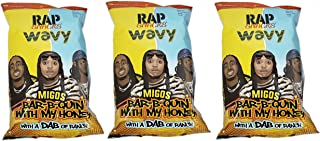 Rap Snacks Wavy Migos Bar-B-Quin' w/My Honey w/a Dab of Ranch Potato Chips 2.75oz Bags (3 Pack)