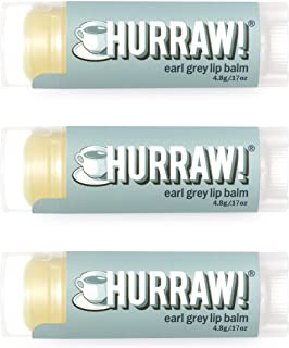 Hurraw! Earl Grey Lip Balm, 3 Pack: Organic, Certified Vegan, Cruelty and Gluten Free. Non-GMO, 100% Natural Ingredients. ...