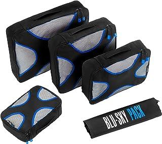 Cubos de embalaje Blu Sky(5 piezas)Organizador de maletas cubos de compresión de equipaje de calidad profesional ideales p...