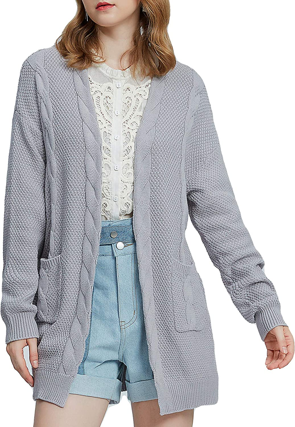 samyama Knit Cardigans for Women Chunky Womens Cardigans with Pockets Sweater
