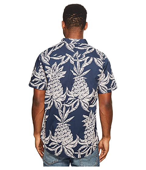 Sleeve Woven Roark Shirt Hineapple Short WqwYRRTP8