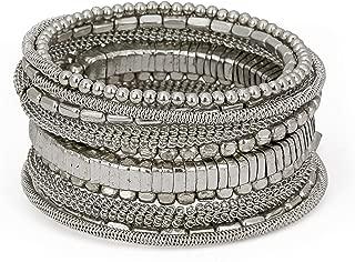 SPUNKYsoul Handmade Bohemian Coil Spring Bracelet for Women Collection