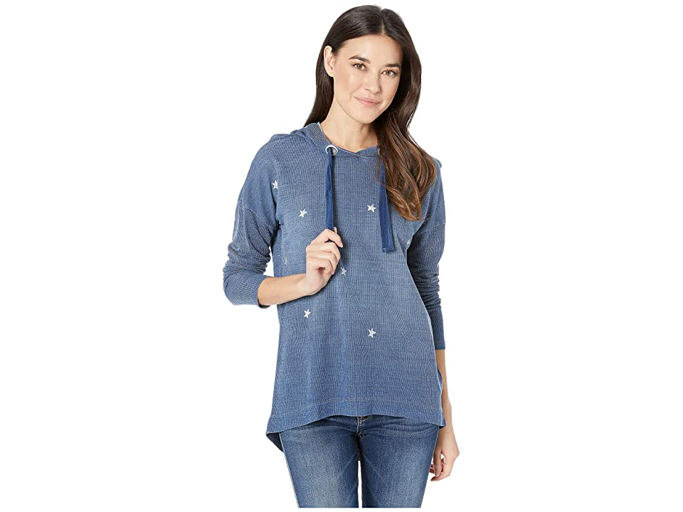 Tribal French Terry Long Sleeve Drop Shoulder Hoodie (Chambray) Women