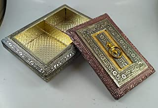 Decorative Empty Dry Fruit Box/Wooden Dry Fruit Box/Sweets Box/Oxidized Dry Fruit Box/Gift Box/Mukhwash Box, Sopari Box (4...
