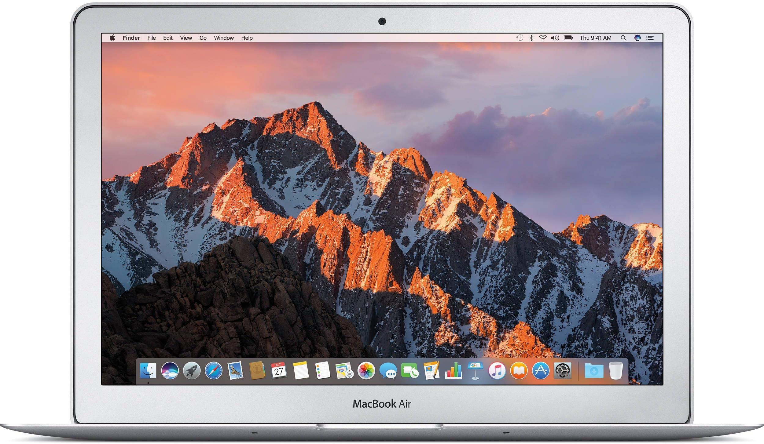 Apple MacBook Air MJVM2LL/A 11.6 Inch Laptop (Intel Core i5 Dual-Core 1.6GHz up to 2.7GHz, 4GB RAM, 128GB SSD, Wi-Fi, Bluetooth 4.0, Integrated Intel HD Graphics 6000, Mac OS) (Renewed)