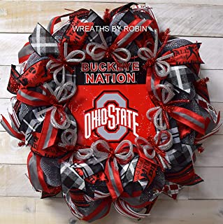 Ohio Sports Wreath, Buckeyes, Ohio College Wreaths (3587)