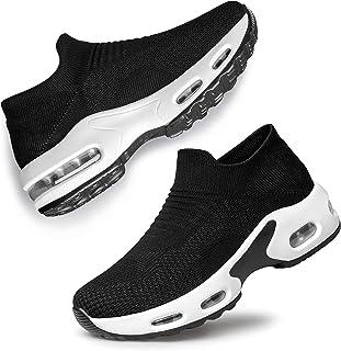 Women's Walking Shoes Slip-on - Sock Sneakers Ladies...