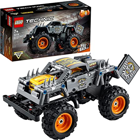 LEGO Technic Monster Jam Max-D, Kit di Costruzione 2 in 1, Truck, Quad, Auto Pull-Back, Idea Regalo per Compleanno o Natale per Bambini, 42119