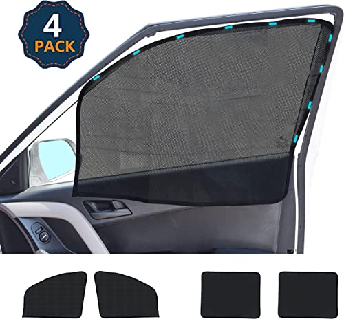 discount EcoNour Car Window Shades for Side popular Windows (4 Pack) | Front and Rear Magnetic Sun Shade for Car Window | Baby discount Magnetic Window Curtain Keeps Your Car Cooler | Car Window Covers for Privacy Blackout sale