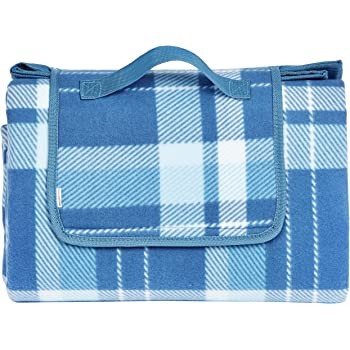 AmazonBasics Plaid Outdoor Picnic Blanket with Waterproof Backing, 68 x 78 inches