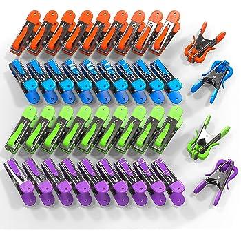12-120 Pièces Pinces à Linge Pinces à linge Soft Poignée Anti-Dérapant Sans Rouille